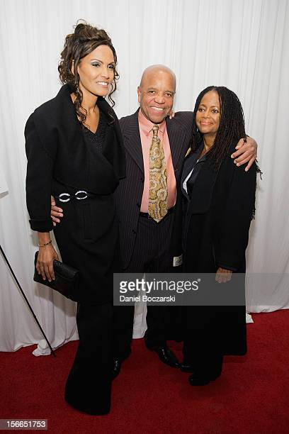 Eskedar Gobeze Berry Gordy and Hazel Joy attend An Evening with Berry Gordy at the Art Institute Of Chicago on November 17 2012 in Chicago Illinois