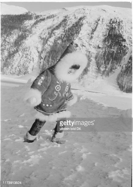 Eskimo girl Farahnaz Pahlavi of Persia in St Moritz 1967