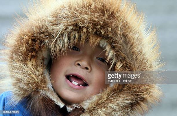 Eskimo Richard Weyiouamma poses in Shishmaref Alaska 27 September 2006 The village home of Inupiat Eskimos is located some 600 miles northwest of...