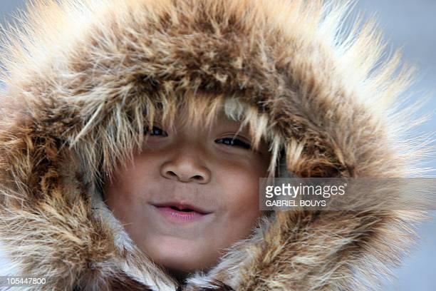 Eskimo Richard Weyiouamma poses in Shishmaref Alaska 27 September 2006 The village home of Inupiat Eskimos is located some 600 miles northwest of...