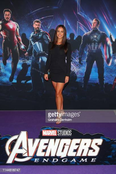 Esma Volder poses ahead of the special screening of Marvel Studios' Avengers: Endgame at IMAX Melbourne Museum on April 23, 2019 in Melbourne,...