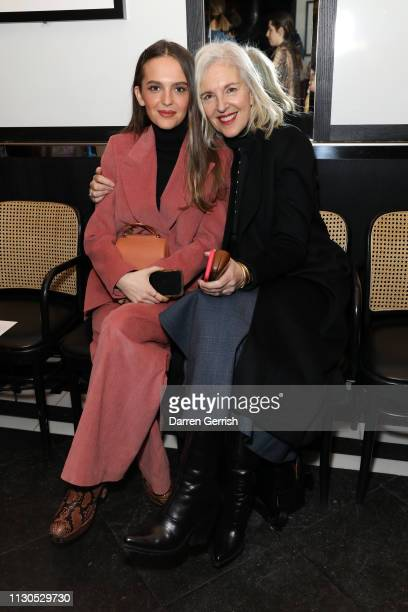 Esme Chapman and Ruth Chapman attend the Emilia Wickstead show during London Fashion Week February 2019 at the Le Caprice on February 18 2019 in...