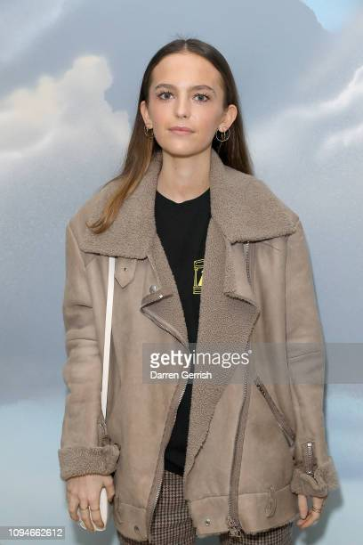 Esme Chapman attends Aries x Jeremy Deller x David Sims Wiltshire before Christ at The Store X 180 The Strand on January 15 2019 in London England