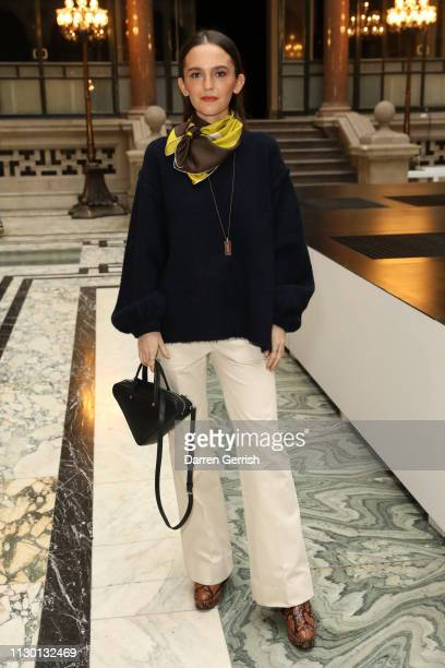 Esme Chapman attends the Molly Goddard show during London Fashion Week February 2019 at the Durbar Court Foreign and Commonwealth Office on February...