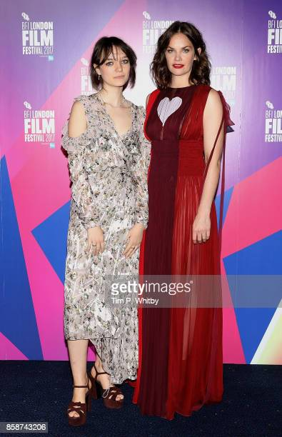 Esme CreedMiles and Ruth Wilson attend the Special Presentation European Premiere of Dark River during the 61st BFI London Film Festival on October 7...