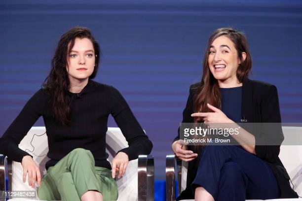 Esme CreedMiles and Sarah Adina Smith of the television show 'Hanna' speak during the Amazon Prime Video Session of the 2019 Winter Television...
