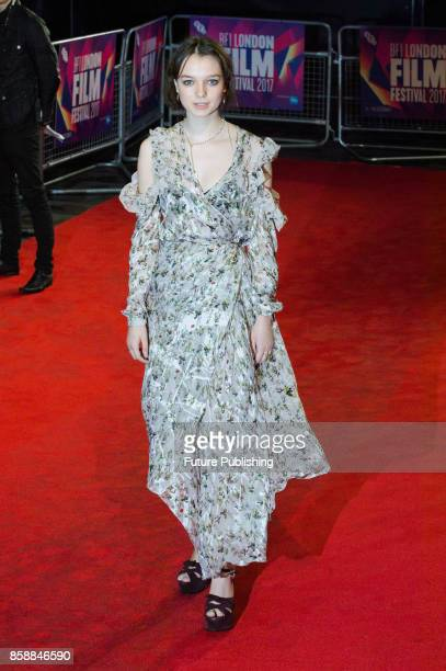 Esme CreedMiles arrives for the European film premiere of Dark River at Odeon Leicester Square during the 61st BFI London Film Festival October 7...