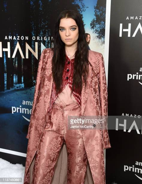Esme CreedMiles attends the Hanna New York Premiere at the Whitby Hotel on March 21 2019 in New York City