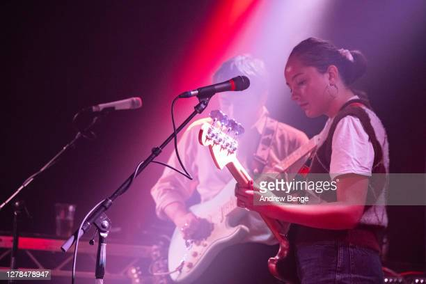 Esme Dee Hand-Halford of The Orielles performs at Belgrave Music Hall on October 04, 2020 in Leeds, England.