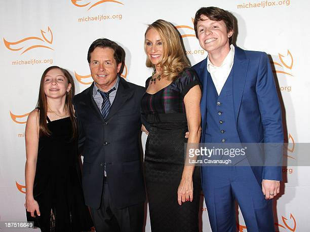 Esme Fox Michael J Fox Tracy Pollan and Sam Fox attend 2013 A Funny Thing Happened On The Way To Cure Parkinson's at The Waldorf=Astoria on November...