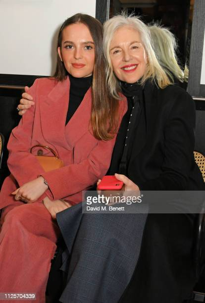 Esme Rose Chapman and Ruth Chapman attend the Emilia Wickstead show during London Fashion Week February 2019 at Le Caprice on February 18 2019 in...