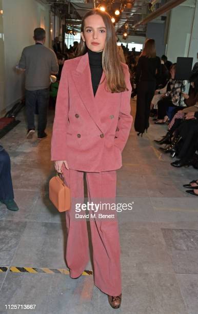 Esme Rose Chapman attends the Christopher Kane show during London Fashion Week February 2019 on February 18 2019 in London England