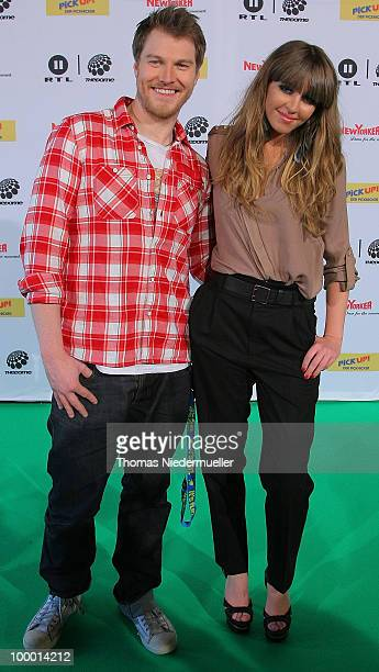 Esmee Denters and Stanfour arrives at 'The Dome 54' at the HannsMartin Schleyer Halle on May 20 2010 in Stuttgart Germany