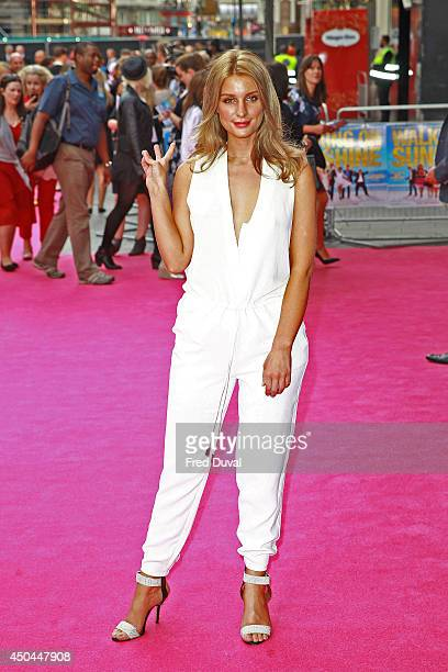 Esmee Denters attends the UK Premiere of 'Walking On Sunshine' at Vue West End on June 11 2014 in London England