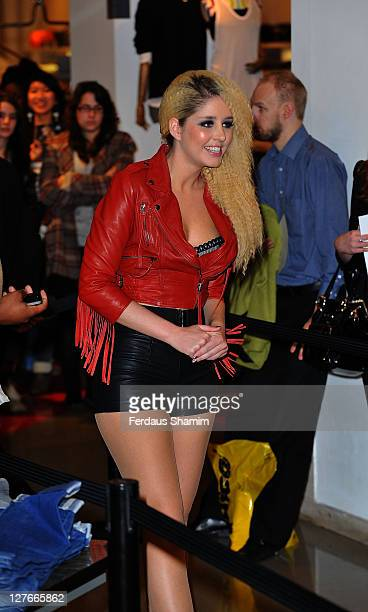 Esmee Denters launches btempt'd lingerie at Selfridges on March 30 2011 in London England