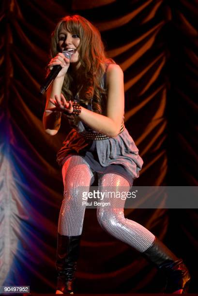 Esmee Denters performs on stage at Ahoy, supporting Enrique Iglesias, on May 5th 2009 in Rotterdam, Netherlands.