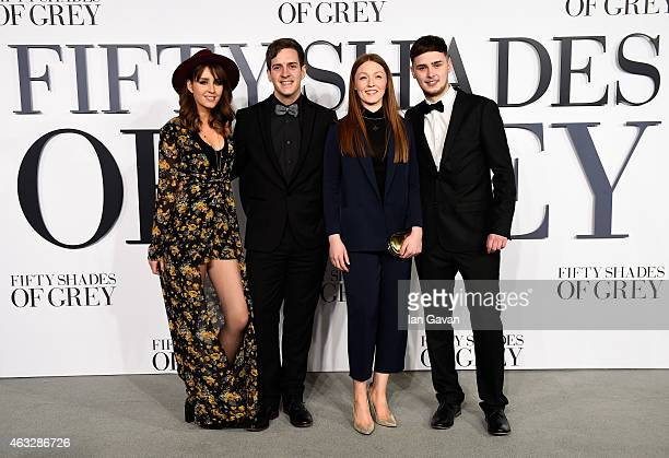 Esmee Denters Steve McCrorie Lucy O'Bryne and Joe Woolfrod from The Voice UK attend the UK Premiere of 'Fifty Shades Of Grey' at Odeon Leicester...