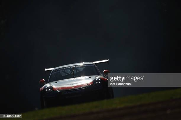 Esmee Hawkey of GT Marques Porsche drives during the Porsche Carrera Cup GB race at Brands Hatch on September 30 2018 in Longfield England