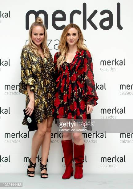 Esmeralda Moya and Marta Hazas attend Merkal Flash Presentation in Madrid on October 18 2018 in Madrid Spain