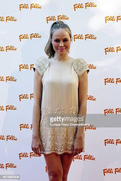 Esmeralda Moya attends a Folli Follie Summer Party on July 9 2014 in Madrid Spain