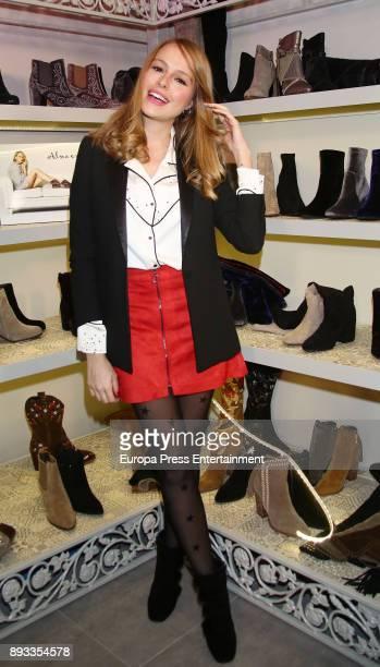 Esmeralda Moya attends 'Alma En Pena' new opening store on December 14 2017 in Madrid Spain