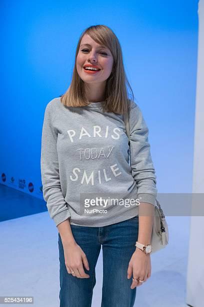 Esmeralda Moya attends 'NV' fashion show during Kids Fashion Week on January 22 2016 in Madrid Spain