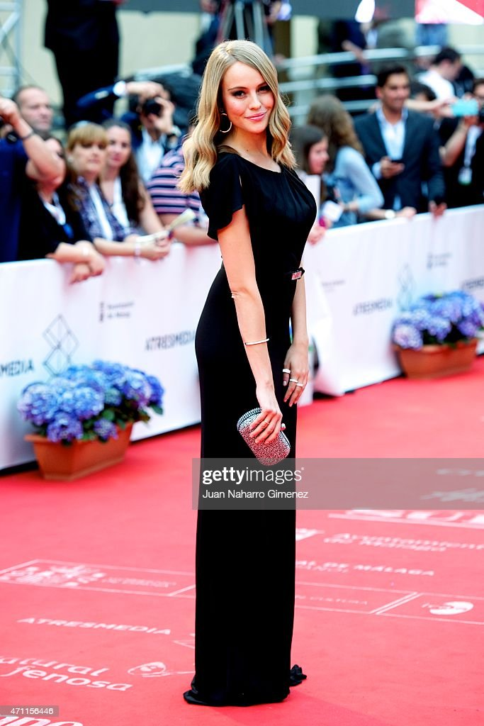 Esmeralda Moya attends the 'Solo Quimica' premiere during the 18th Malaga Spanish Film Festival at the Cervantes Theater on April 25, 2015 in Malaga, Spain.