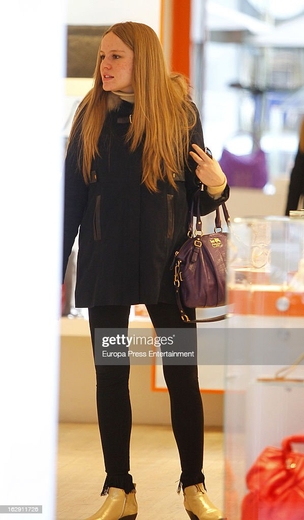 Esmeralda Moya Sighting In Madrid - February 22, 2013