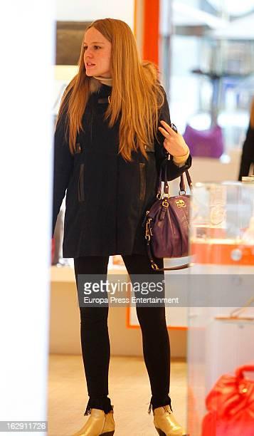 Esmeralda Moya is seen several months pregnant on February 22 2013 in Madrid Spain