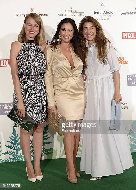 Esmeralda Moya Maria Bravo and guest attend Corazon Solidario Magazine Awards at Miguel Angel Hotel on July 6 2016 in Madrid Spain