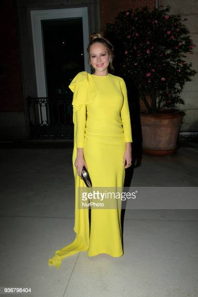 Esmeralda Moya poses to the Global Gift Foundation charity gala at the ThyssenBornemisza museum in downtown Madrid Spain 22 March 2018