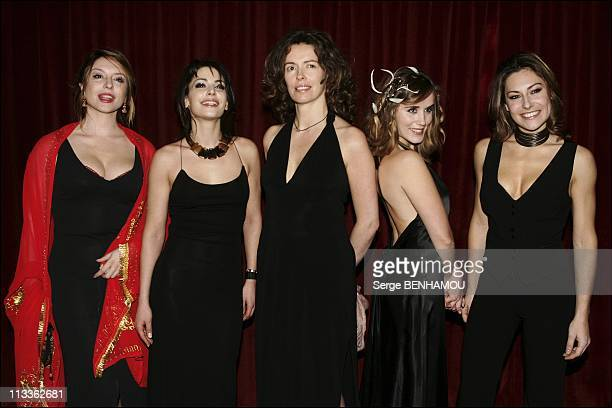 Espace Detente Premiere On January 31St 2005 In Paris France Jeanne Savary Noemie Elbaz Sylvie Loeillet Valerie Decobert Shirley Bousquet