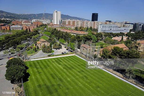 WITH Espagne Barcelone la Masia creuset de l'alchimie blaugrana by YANN Picture taken on April 06 2011 shows the building named La Masia and it's...