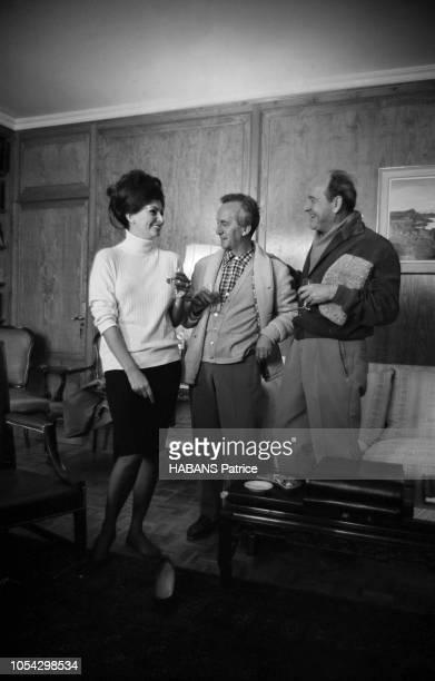 Espagne février 1963 Le tournage du film américain 'La chute de l'Empire romain' d'Anthony Mann avec Sophia Loren Ici une partie de l'équipe du film...