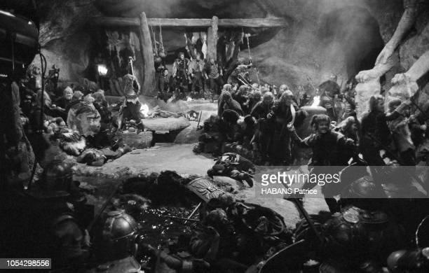 Espagne février 1963 Le tournage du film américain La chute de l'Empire romain d'Anthony Mann Ici la prise d'une scène de bataille où acteurs et...