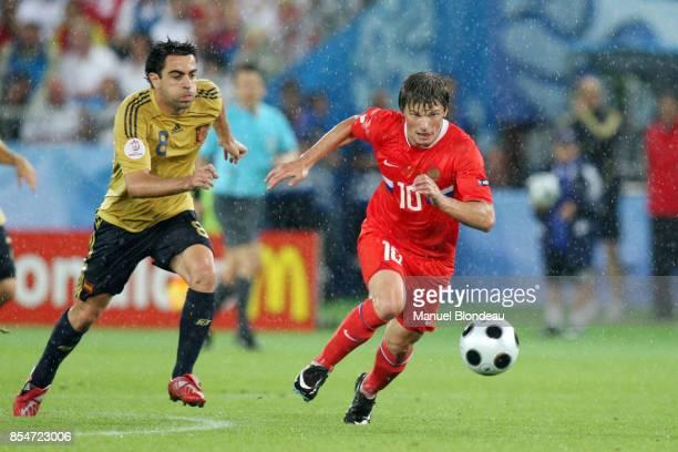 XAVI / ARSHAVIN Espagne / Russie 1/2 Finale Euro 2008 Vienne