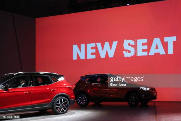 Espanola de Automovil Turismo Arona compact sports utility vehicles are unveiled during a launch event in Barcelona Spain on Monday June 26 2017 Seat...