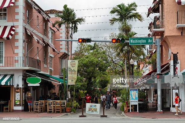 espanola way - miami beach - pjphoto69 stock pictures, royalty-free photos & images