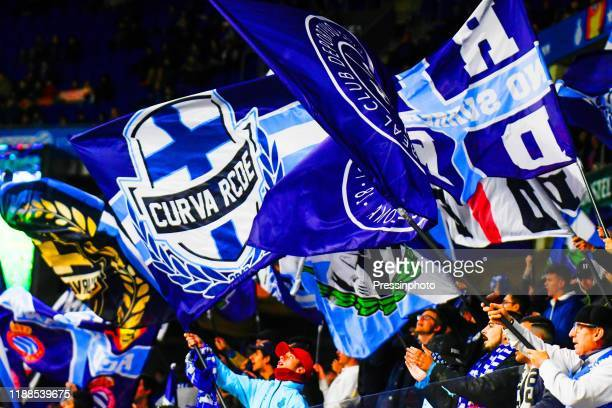 Espanyol flags during the UEFA Europa League, Group H match between RCD Espanyol and CSKA Moscow on December 12, 2019 in Barcelona, Spain.