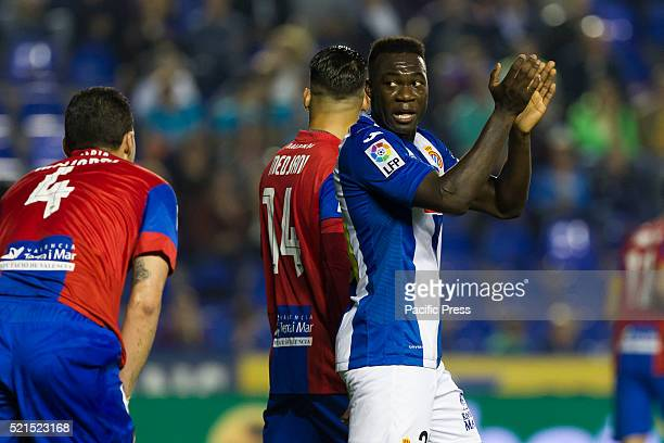 Espanyol midfielder Pape Diop during on La Liga match between Levante UD and RCD Espanyol at Ciutat de Valencia Stadium La Liga match between Levante...
