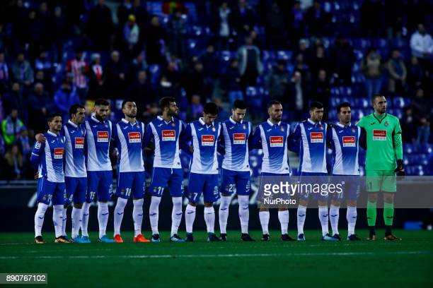 RCD Espanyol team during the La Liga match between RCD Espanyol v Girona FC at RCD Stadium on December 11 2017 in Barcelona Spain