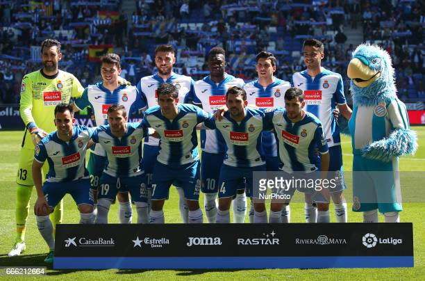RCD Espanyol team during the match between RCD Espanyol and Deportivo Alaves on April 08 2017