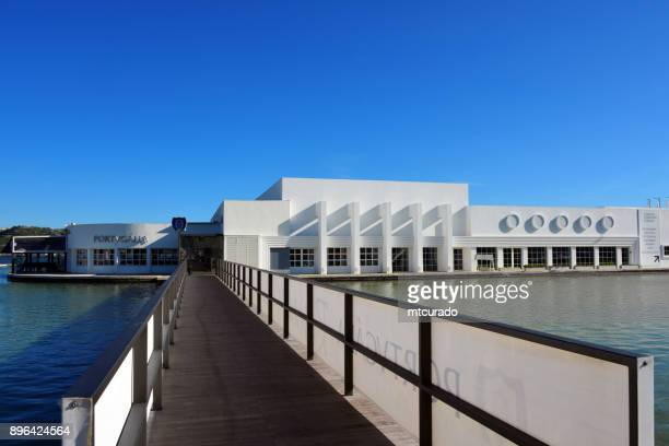 espelho de agua restaurant, built for the 1940 portuguese world exhibition, lisbon, portugal - espelho stock pictures, royalty-free photos & images