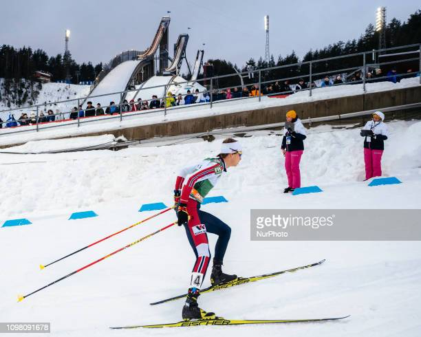 Espen Andersen competes in the FIS Nordic Combined World Cup 10 km Individual Gundersen at the Lahti Ski Games in Lahti, Finland on 10 February 2019.