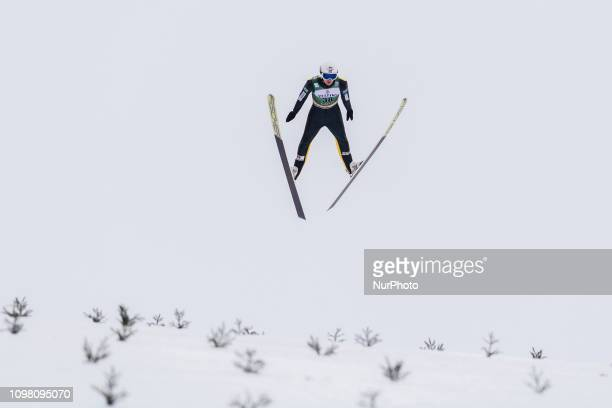 Espen Andersen competes in the FIS Nordic Combined World Cup Individual Gundersen LH/10km Ski Jumping at the Lahti Ski Games in Lahti, Finland on 10...
