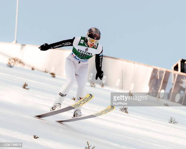 Espen Andersen during the Nordic Combined HS130 provisional competition round of the FIS Nordic Ski World Championships in Lahti, Finland, on...