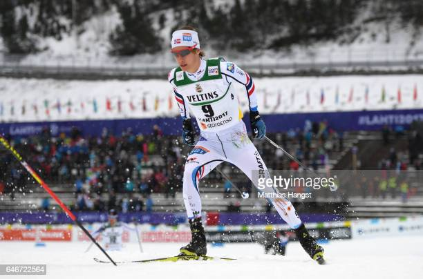 Espen Andersen of Norway competes in the Men's Nordic Combined 10KM Cross Country during the FIS Nordic World Ski Championships on March 1, 2017 in...