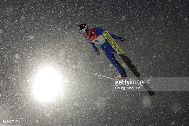 Espen Bjoernstad of Norway competes in the Individual Gundersen LH 10km during the FIS Nordic Combined World Cup presented by Viessmann Test Event...