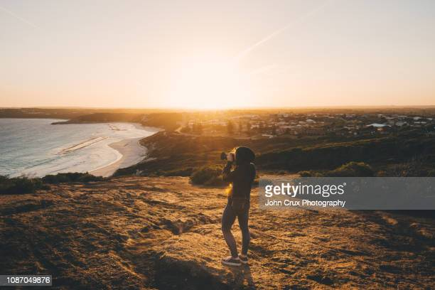 esperance backpacker girl - town stock pictures, royalty-free photos & images