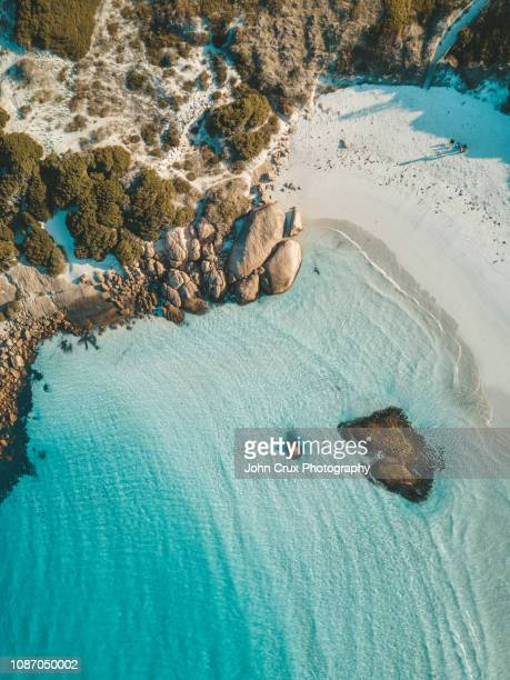 esperance beach aerial shot - western australia stock pictures, royalty-free photos & images